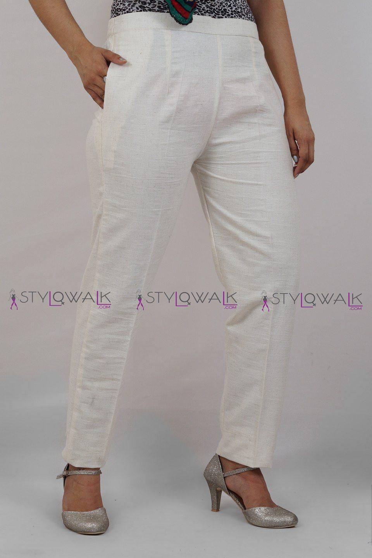 Cigarette Khadi Pants 4 - stylowalk.com