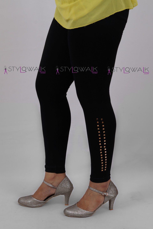 stone work leggings-side-Black legging-stylowalk.com