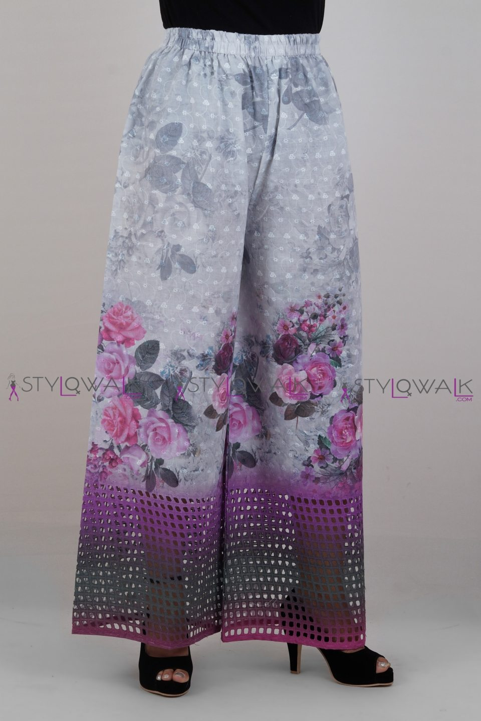 Cotton Chicken 3D Printed Palazzo Pants-8- Stylowalk.com