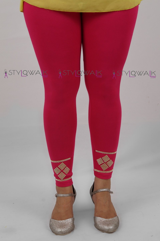 Design Legging- front- magenta Legging-Wholesale manufacturers- Stylowalk.com